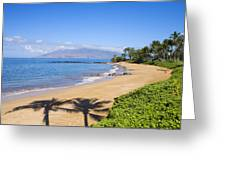 Wailea, Ulua Beach Greeting Card