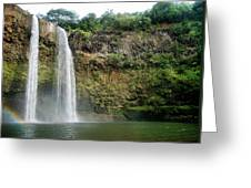 Wailua Falls0 919 Greeting Card
