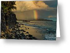 Waimanalo Rainbow Greeting Card