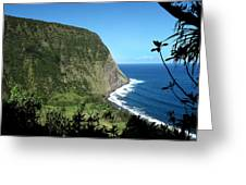 Waimanu Valley On Hawaii Greeting Card