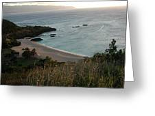 Waimea Bay And Kaiena Point Greeting Card