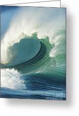 Waimea Bay Shorebreak Greeting Card