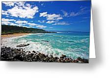 Waimea Bay Greeting Card by Ty Helbach
