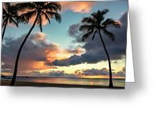 Waimea Beach Sunset 3 - Oahu Hawaii Greeting Card