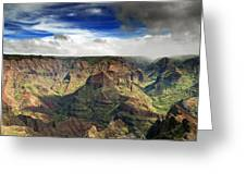 Waimea Canyon Hawaii Kauai Greeting Card by Brendan Reals