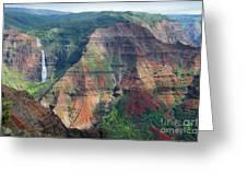 Waimea Canyon Kauai Greeting Card