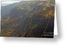 Waimea Canyon On A Misty Day In Kauai Greeting Card