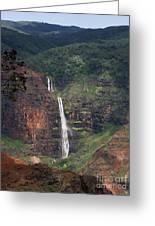 Waimea Canyon Waterfall Greeting Card