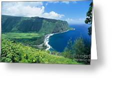 Waipio Valley Lookou Greeting Card