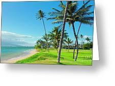 Waipuilani Beach Kihei Maui Hawaii Greeting Card