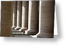 Waiting At St Peter's Greeting Card by Julian Perry