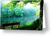 Waiting Bench Greeting Card