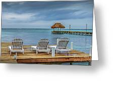 Waiting By The Sea Greeting Card
