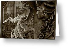 Waiting For Alexander - Heroes And Gods - Brown  Greeting Card