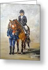 Waiting For Dressage Greeting Card