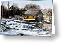 Essex Boatyard, Winter Greeting Card
