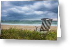 Waiting For Sunrise On The Dunes Greeting Card