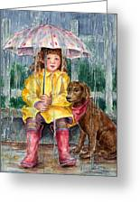 Waiting For Sunshine Greeting Card by Barbel Amos