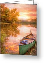 Waiting For The Dawn In Peach Greeting Card