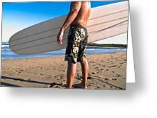 Waiting For The Surf Greeting Card by Jim DeLillo