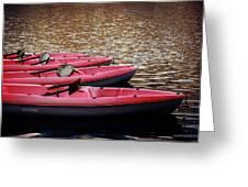 Waiting Kayaks Greeting Card