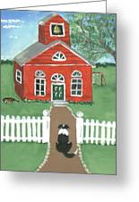 Waiting On The Bell Greeting Card by Sue Ann Thornton