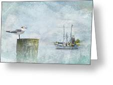 Waiting On Your Ship To Come In Greeting Card