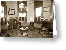 Waiting Room Of Dr. C. H. Pearce, D.d.s. Dentist, Watsonville,  Greeting Card