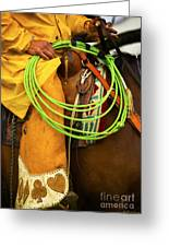 Waiting To Lasso Greeting Card