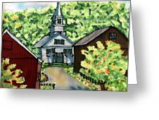 Waits River Church Greeting Card