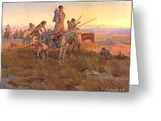 Wake Of The Buffalo Runners Greeting Card