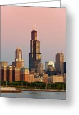 Wake Up Chicago Greeting Card by Sebastian Musial