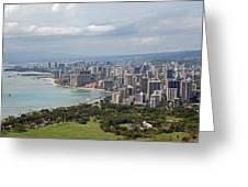 Wakiki Beach Hawaii Greeting Card