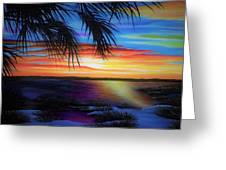 Wakulla Beach Morning Greeting Card