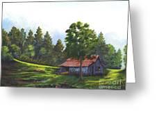 Walhalla Barn Greeting Card