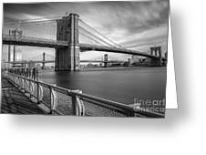 Walk Along The East River Greeting Card