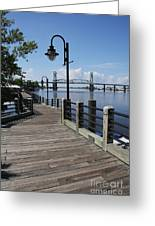 Walk Along The Fear River - Wilmington Greeting Card