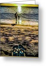 Walk By The Sea Greeting Card