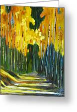 Walk In The Forest Greeting Card