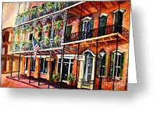 Walk In The French Quarter Greeting Card
