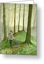 Walk In The Woods Greeting Card by Sean Seal