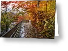 Walk Into Autumn Greeting Card