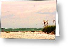 Walk The Beach Greeting Card