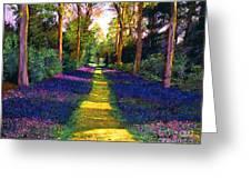 Walk Through Blue Greeting Card
