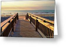 Walk To The Beach Greeting Card