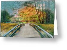 Walk To The Lake In Watercolors Greeting Card