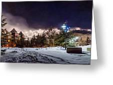 Walk To The Ski Hills Greeting Card