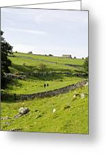 Walkers At Lathkill Dale Greeting Card
