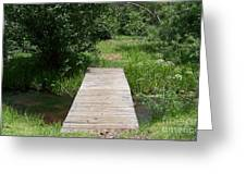 Walking Bridge Over River Greeting Card