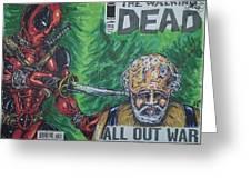 Walking Dead Deadpool Mash-up  Greeting Card